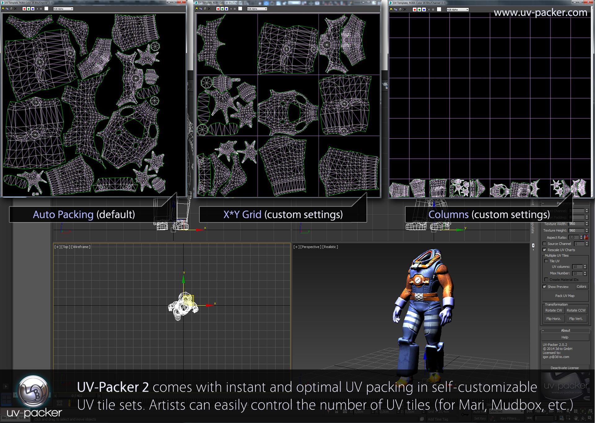 UV-Packer UV tiles UV-packing