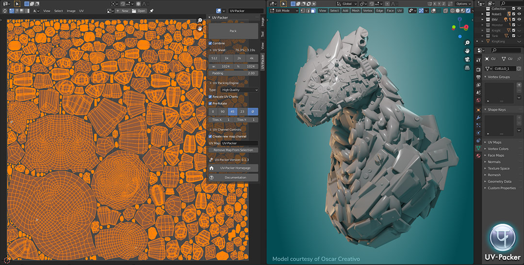 UV-Packer Automate your UV-Packing workflow for Blender
