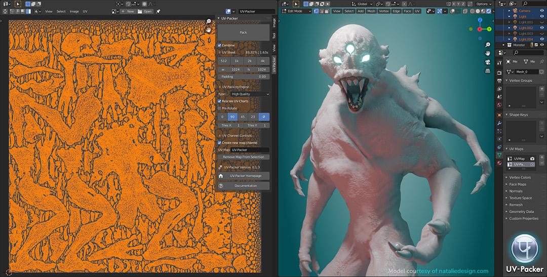 UV-Packer Perfect UV-Packing for Blender 3D Objects